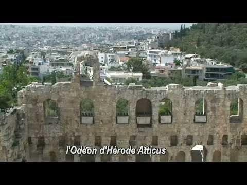 Les monuments antiques d'Athènes capitale de Grèce