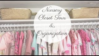 Mommy Monday: Nursery Closet Tour & Organization