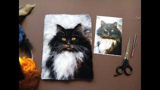Картины из шерсти: как перенести рисунок на флизелин