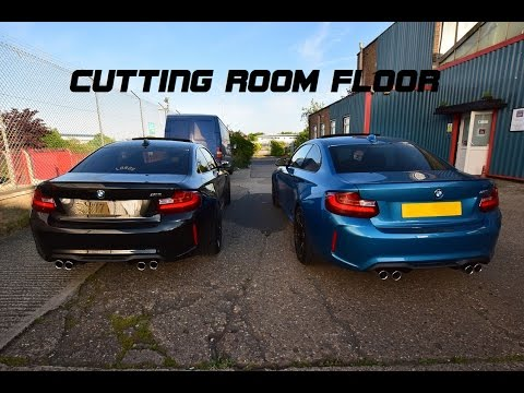 cutting room bmw m2 downpipe install exhaust sound. Black Bedroom Furniture Sets. Home Design Ideas