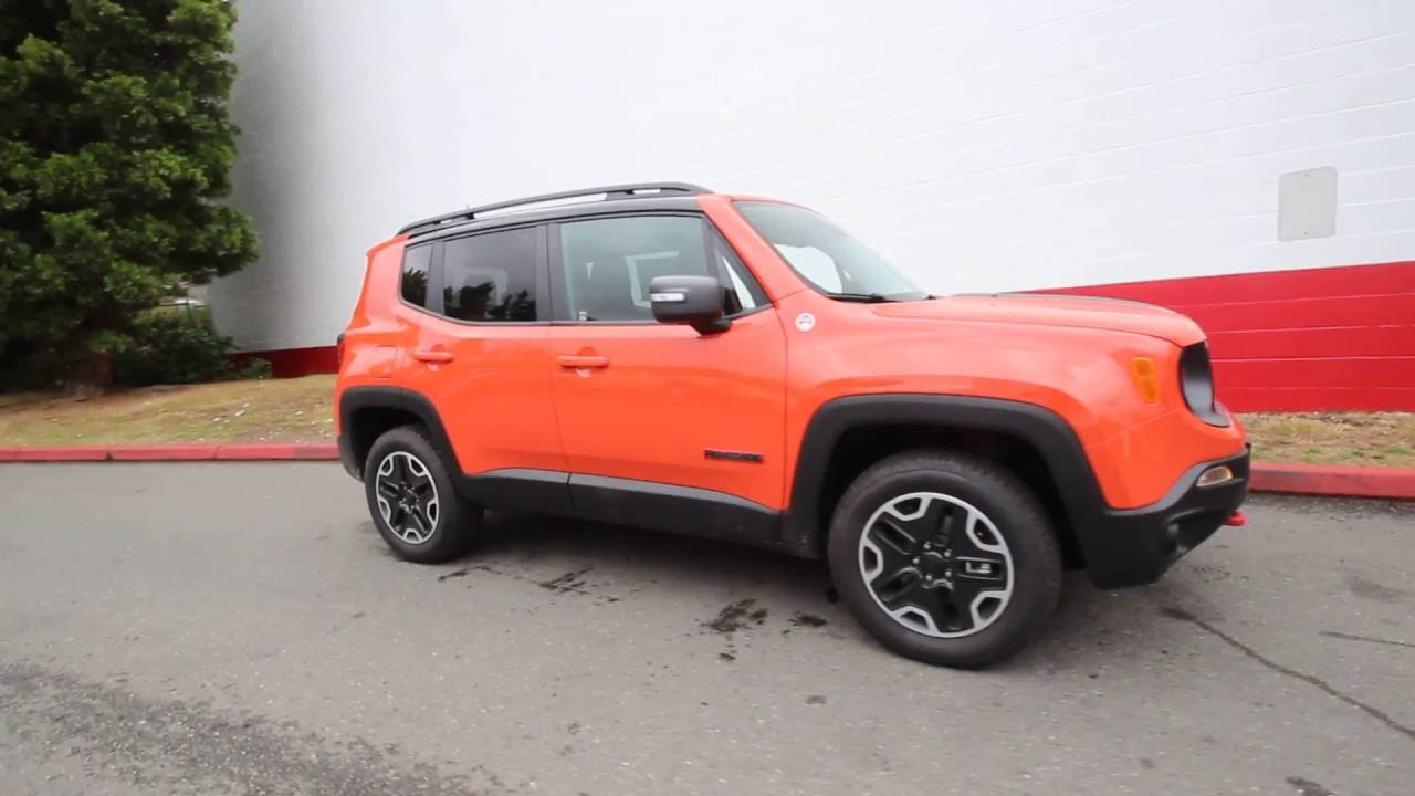 2016 jeep renegade trailhawk 4x4 omaha orange gpd10917 redmond seattle youtube. Black Bedroom Furniture Sets. Home Design Ideas
