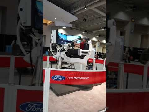 Ford Race Car Simulation at the 2018 Washington Auto Show