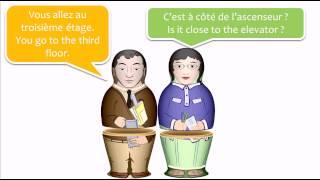 Урок французского языка = = английский французский диалог # 4