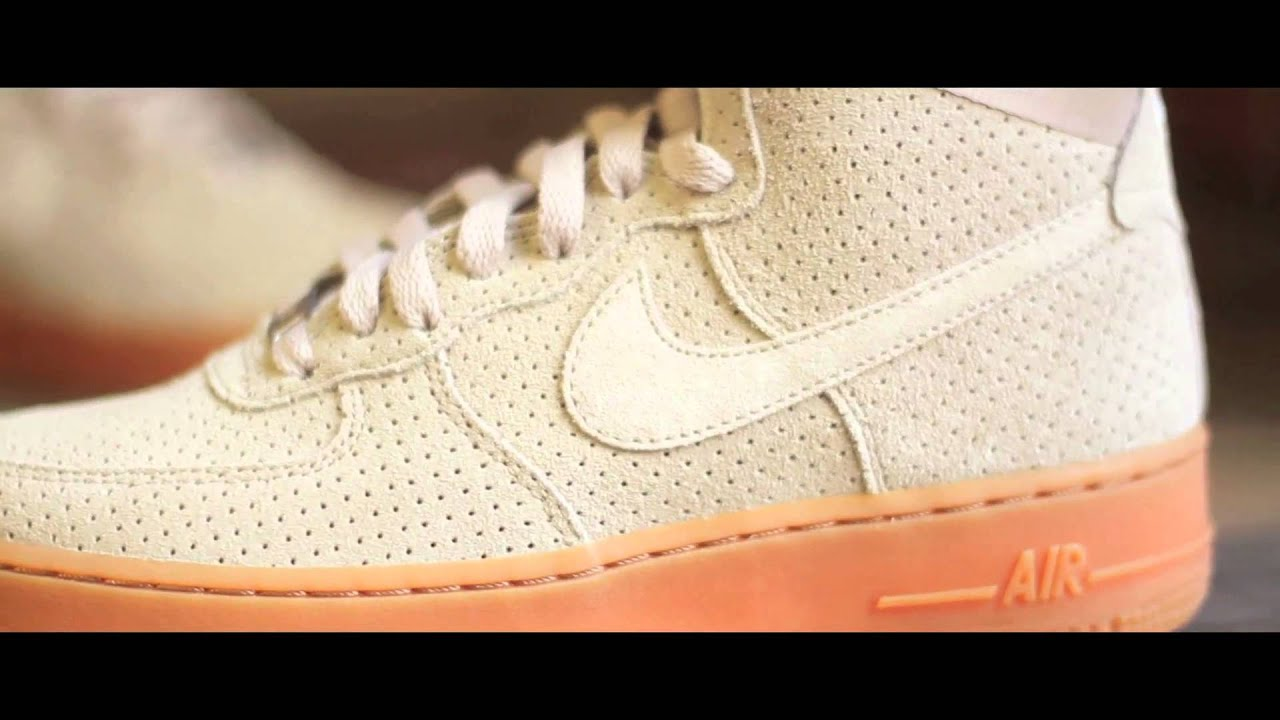 Nike Air Force 1 Beige Suede