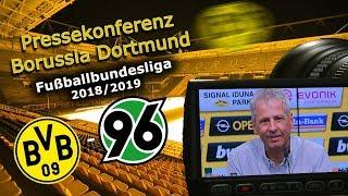 Borussia Dortmund - Hannover 96: Pk mit Lucien Favre und Michael Zorc