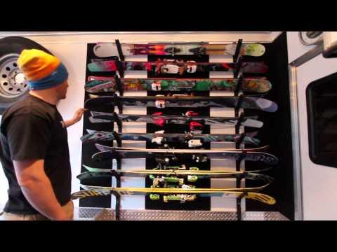 DIY Ski Rack