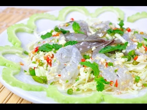 Thai Food - Shrimp In Fish Sauce (Goong Shae Nam Pla)