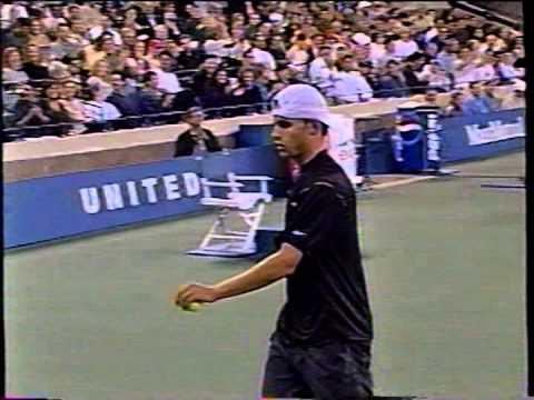a5207426862 Roddick anger during Hewitt 2001 US Open QF