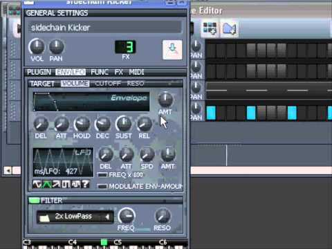 LMMS tutorial: LMMS 1 1 mixer sidechaining