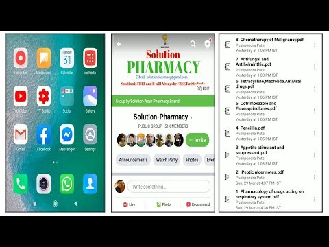 How To Download PDF From Solution Pharmacy Facebook Group Using Mobile (HINDI)