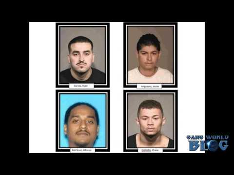 Alleged Norteno Gang Members Arrested After 2 Chases (Santa Rosa, Ca)