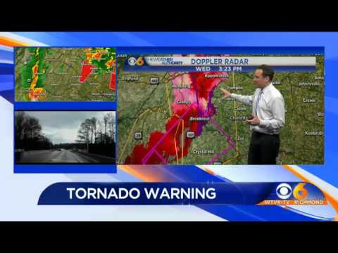 Tornado Warnings issued for parts of CBS 6 viewing area