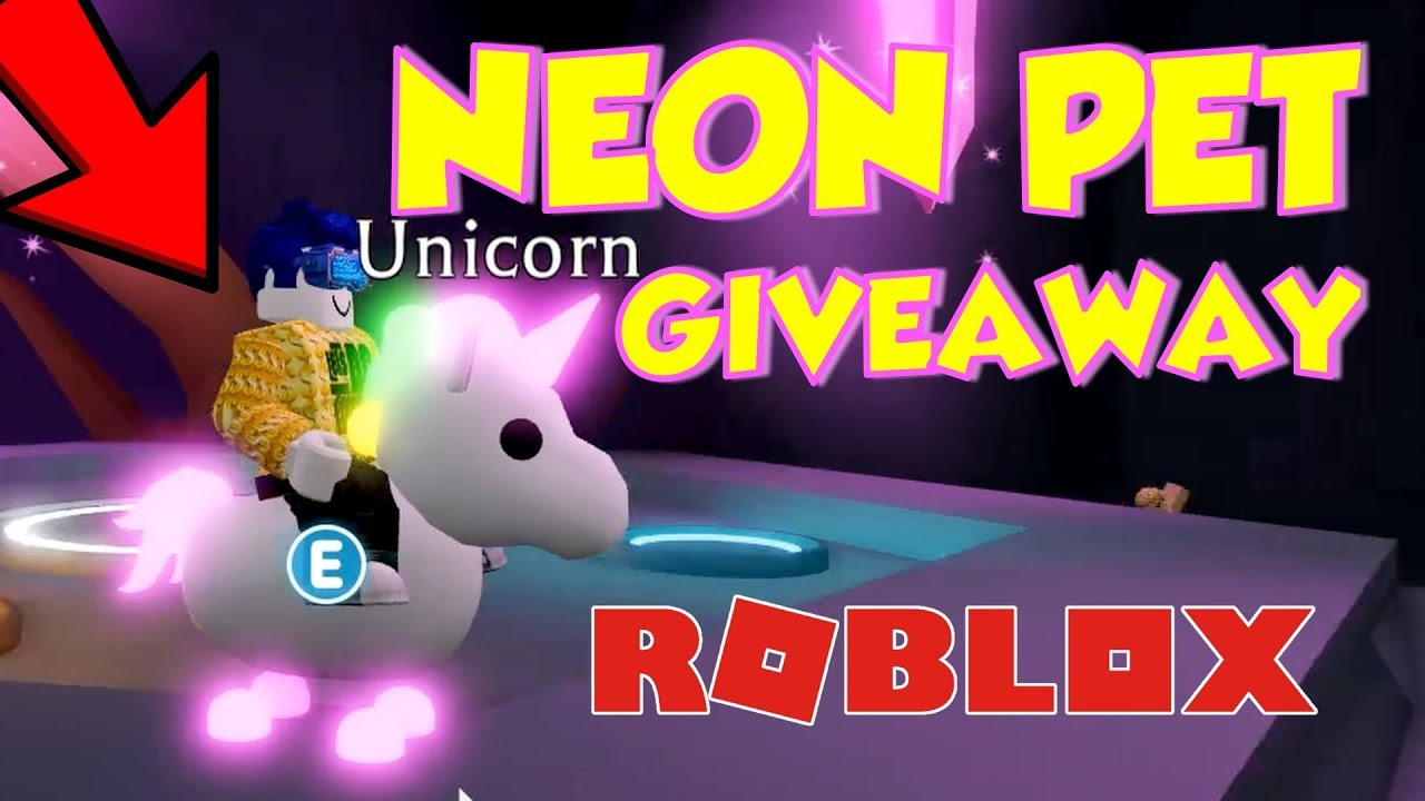 Adopt Me Neon Pets How To Get A Free Neon Pet In Adopt Me Youtube
