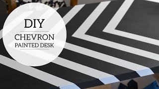 Home Office: How To Paint Chevron Stripes On Your Desk