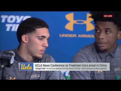 LiAngelo Ball  UCLA Teammates APOLOGIZE for STEALING In China FULL Press Conference