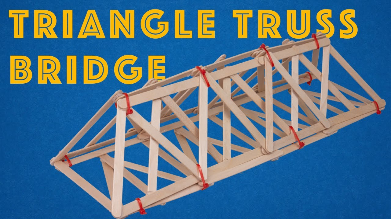 Triangle Truss Bridge - Simple and Strong Engineering Project for Kids