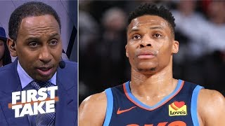 Download Russell Westbrook is upset that he 'doesn't get to control what we think' - Stephen A. | First Take Mp3 and Videos