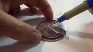 Layers of Rub ons and Resin Pendant Tutorial with Cat Kerr
