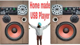 How to make a Big USB player ♨️ Home made TDA7388 ic amplifier 4 channel output, Best Music system