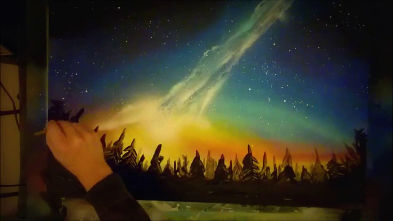 Milky Way - Salt Art - YouTube