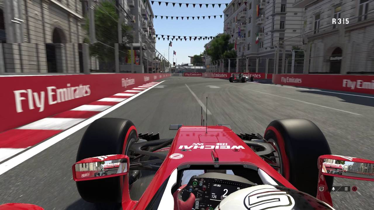 f1 2016 ps4 gameplay with ferrari at baku city circuit. Black Bedroom Furniture Sets. Home Design Ideas