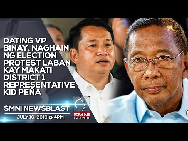 DATING VP BINAY, NAGHAIN NG ELECTION PROTEST LABAN KAY MAKATI DISTRICT 1 REPRESENTATIVE KID PEÑA