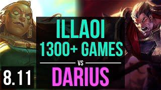 ILLAOI vs DARIUS (TOP) ~ 1300+ games, KDA 5/1/8 ~ EUW Diamond ~ Patch 8.11