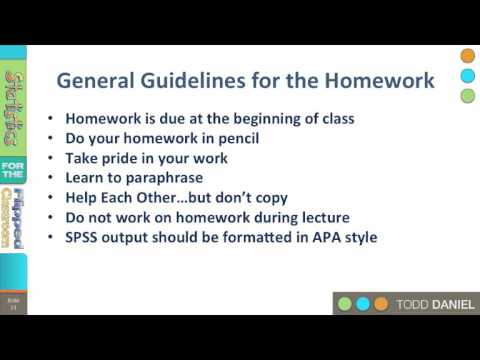 0-5 Guidelines for the Homework