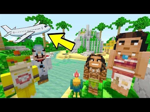 PLANE CRASH TO MOANA ISLAND! [EMERGENCY!] - Nintendo Fun House - (Minecraft Switch) [214]
