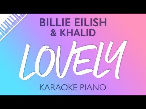 Lovely (Piano Karaoke Instrumental) Billie Eilish & Khalid