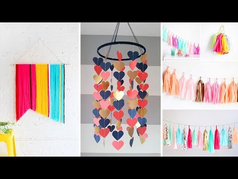 DIY Room Decor! 17 DIY Room Decorating Ideas for Teenagers 2019 (DIY Wall Decor, Pillows, etc.)