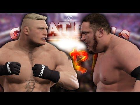 SAMOA JOE VS BROCK LESNAR WWE UNIVERSAL CHAMPIONSHIP (WWE 2K17 Exhibition)