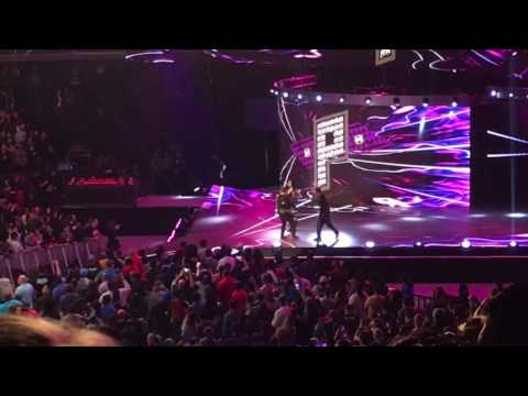 """WWE RAW Off Air 2/20/17 """"Paige"""" live entrance"""
