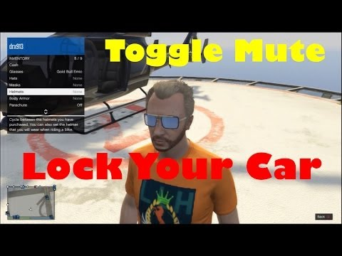 GTA Online - How to lock your car & mute players! (XBOX 360/PS3)