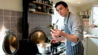 River Cottage Head Chef Gill Meller cooks Winter Soup on an Esse