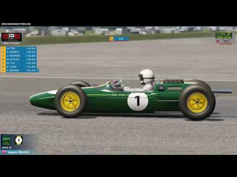 SRS Live Now! Lotus25 @ Silverstone1967 13:00GMT 2019-01-14