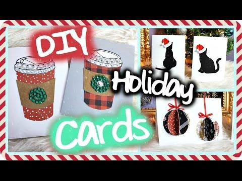 DIY Christmas/ Holiday Cards! Easy & Cute