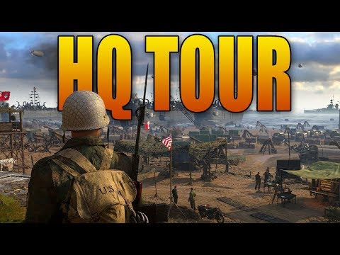 FULL HEADQUARTERS TOUR: 1v1 Pit, Theater, Firing Range (Call of Duty WWII HQ)