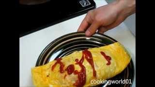 Омлет с рисом рецепт Omurice recipe