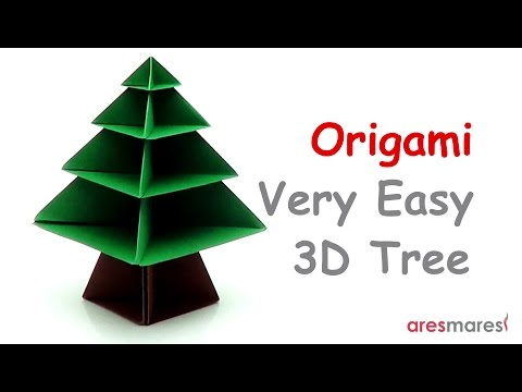 Origami 3D Tree (easy - modular)