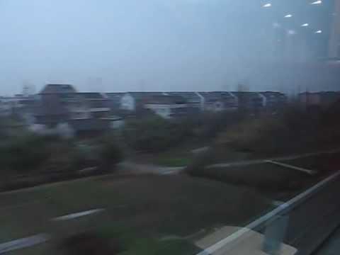 China's High Speed Train 301km/hr Hangzhou Xihu to Shanghai