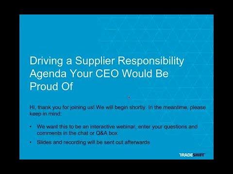 Webinar: Supplier Responsibility