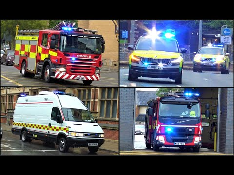 MAJOR CHEMICAL INCIDENT- HazMat, Fire Engines, Police And Emergency Vehicles Responding!