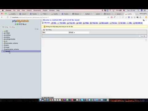 [import export csdl  ] -  Nhập xuất CSDL trong phpmyadmin P1