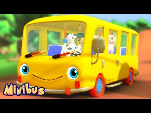The Wheels on The Bus 🚌 Songs for Kids and Babies - Nursery Rhymes Videos