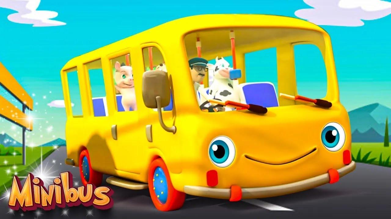 Purple Wheels On The Bus Go Round And Round | Nursery