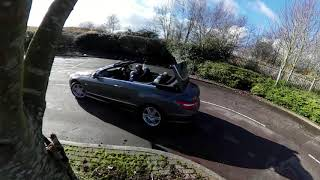 Mercedes Benz E Class 2 1 E220 CDI BlueEFFICIENCY Sport Roof Operation On The Move