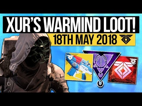 Destiny 2   XUR LOCATION & WARMIND EXOTICS! - Exotic Weapon, Armor Inventory & More (18th May)