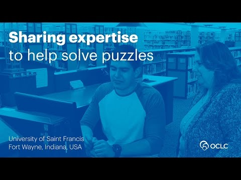 OCLC Tipasa and the University of Saint Francis—Sharing expertise to help solve puzzles