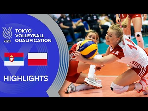 SERBIA vs. POLAND - Highlights Women | Volleyball Olympic Qualification 2019